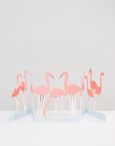 Поздравительная открытка на день рождения с фламинго Meri Meri - Мульти