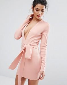 Платье с длинными рукавами и поясом Bec & Bridge India Rosa - Розовый