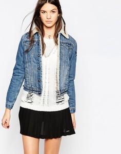 Джинсовая куртка с меховым воротником Pepe Jeans Emma - Синий