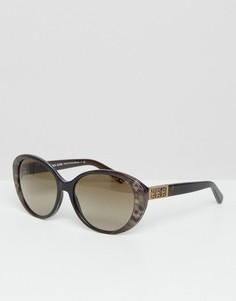 Круглые солнцезащитные очки Micheal Kors - Коричневый