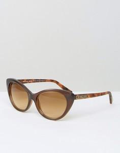 Солнцезащитные очки кошачьи глаза Micheal Kors - Коричневый