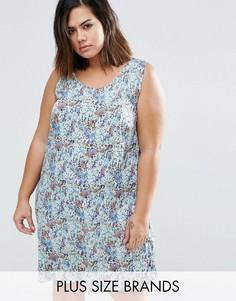 Платье с цветочным принтом Junarose Sema - Синий