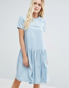 Little White Lies Suki Denim Look Dress - Синий