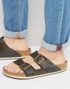 Замшевые сандалии Birkenstocks Arizona - Коричневый