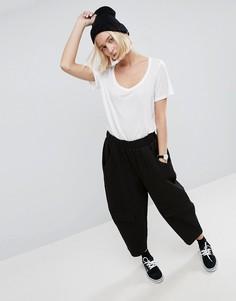 Фактурные брюки овального силуэта ASOS WHITE - Черный