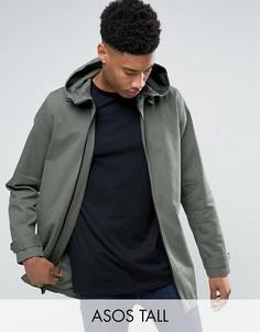 Легкая куртка-парка цвета хаки ASOS TALL - Зеленый