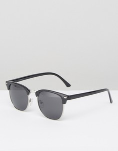 Черные солнцезащитные очки в стиле ретро ASOS - Черный