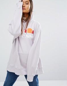 Oversize-худи с логотипом спереди Ellesse - Фиолетовый