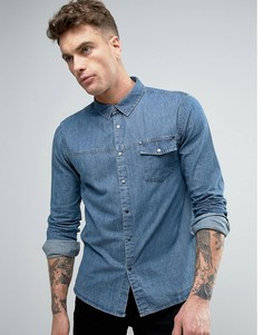 Джинсовая рубашка с карманом Another Influence - Синий