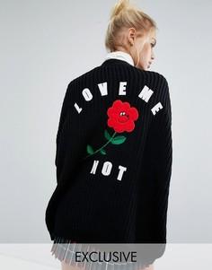 Эксклюзивный кардиган Lazy Oaf Valentines Love Me Not - Черный