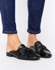 Кожаные туфли без задника New Look - Черный