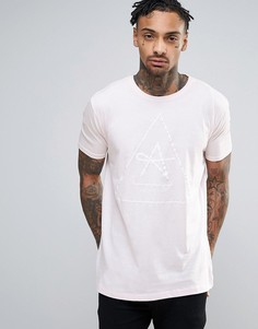 Antioch Longline Triangle Logo T-Shirt - Розовый