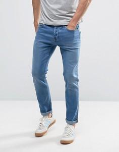 Синие винтажные эластичные джинсы узкого кроя Only & Sons - Синий