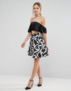 Монохромная юбка Coast Wren - Черный