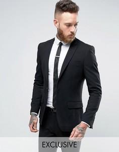 Супероблегающий черный пиджак Only & Sons - Черный
