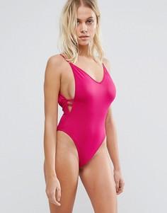 Слитный купальник Lost Ink - Розовый