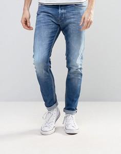 Светлые джинсы скинни Diesel Tepphar 859R - Синий