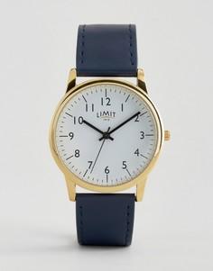 Часы с золотистым циферблатом и темно-синим ремешком Limit эксклюзивно для ASOS - Темно-синий