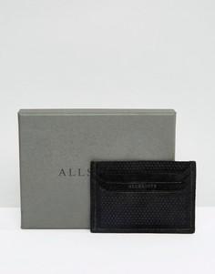 Кожаная визитница Allsaints - Черный