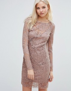 Облегающее платье с длинными рукавами Vila - Фиолетовый
