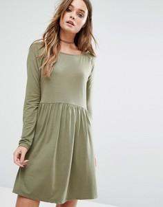 Платье с присборенной юбкой Vila - Зеленый