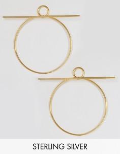 Серьги-кольца из позолоченного серебра Lavish Alice - Золотой