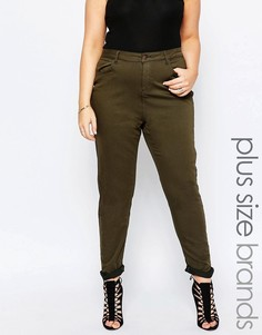 Зауженные джинсы цвета хаки New Look Plus - Зеленый