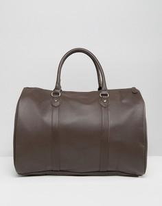Коричневая сумка из искусственной кожи ASOS - Коричневый