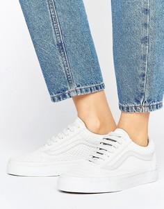 Бледно-серые кроссовки с рисунком змеиной кожи Vans Old Skool - Серый