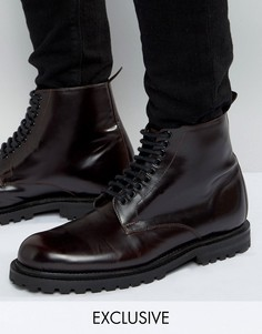 Кожаные ботинки на шнуровке Hudson London - Красный