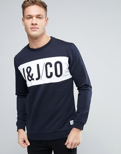 Jack & Jones Core Sweatshirt With Graphic Print - Темно-синий