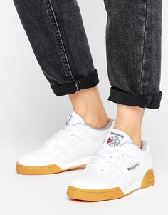 Reebok Workout Plus Trainers With Gum Sole - Белый