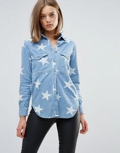 Рубашка с принтом звезд Glamorous - Синий
