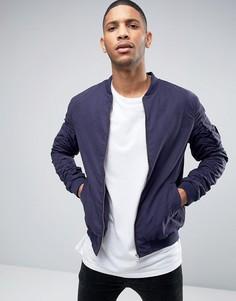 Куртка-пилот с присборенными рукавами Brave Soul - Синий