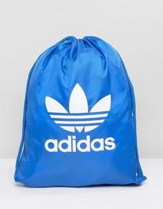 Синий рюкзак на шнурке с трилистником adidas Originals BJ8358 - Синий
