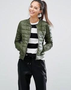 Куртка-пилот на подкладке Only - Зеленый