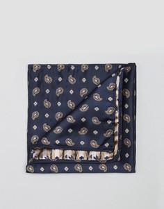 Темно-синий платок для нагрудного кармана с принтом пейсли Reclaimed Vintage - Темно-синий