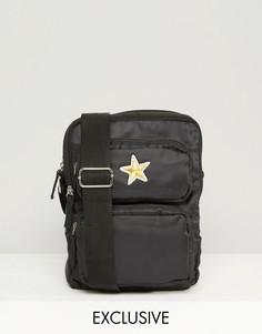 Сумка для авиапутешествий со звездой Reclaimed Vintage - Черный