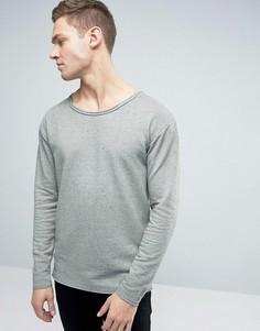 Jack & Jones Originals Sweatshirt With Dropped Shoulders And Raw Edges - Серый