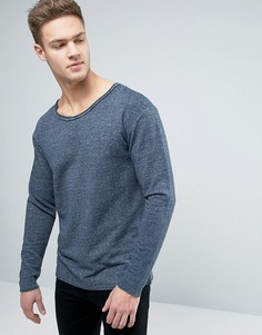 Jack & Jones Originals Sweatshirt With Dropped Shoulders And Raw Edges - Синий