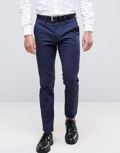 Темно-синие узкие брюки стретч Burton Menswear - Темно-синий
