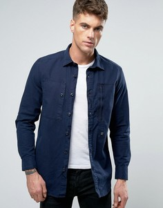Узкая рубашка с длинными рукавами G-Star Powell - Синий