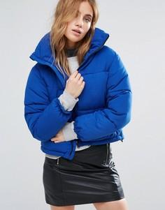Свободная дутая куртка New Look - Синий