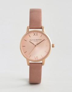 Розовые часы с кожаным ремешком Olivia Burton - Розовый