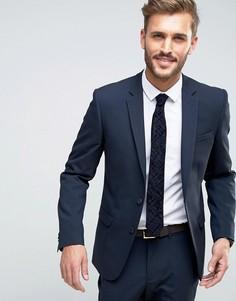 Темно-синий узкий пиджак New Look - Синий
