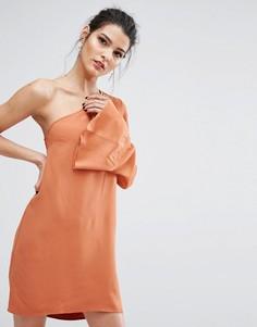 Асимметричное платье Bec & Bridge Lunetta - Коричневый