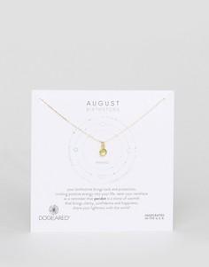 Ожерелье с перидотом для рожденных в августе Dogeared - Золотой