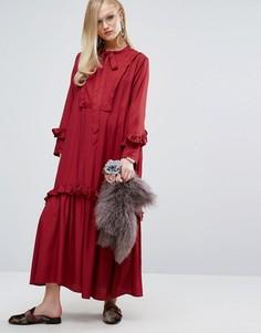 Платье макси с оборками Sister Jane - Красный