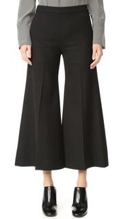 Укороченные расклешенные брюки Isa Struct Acne Studios