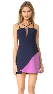 Мини-платье с цветными блоками Bcbgmaxazria